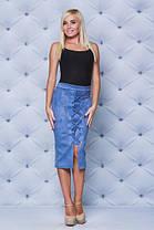 Замшевая юбка карандаш серая, фото 2