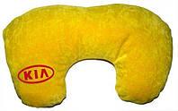 Подушка-рогалик для шеи KIA желтый