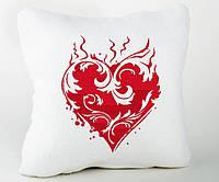 Подушка для влюбленных Пламенное сердце, фото 1