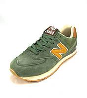 Кроссовки мужские New Balance 574 зеленые  (р.41,42,43,44,45)