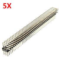 5шт 2,54 мм 3x40P штырьки с тремя прямыми прямоугольными штырьками