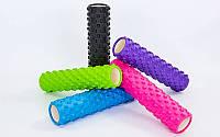 Роллер массажный Grid Roller для йоги, пилатеса, фитнеса Zelart FI-6280