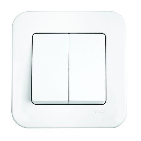 Выключатель 2-й Белый Rollina Viko, 90420002
