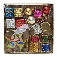 Новогодняя декоративная бумага в коробке Рождество Кулон Установите Рождественский бал Пять очков Star барабан Подарочная коробка