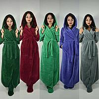 Длинный махровый халат Новинки от Селим текстиль