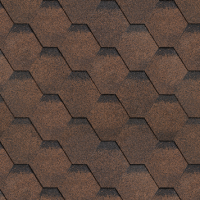 Битумная черепица Финская коричневая 1003*320*3,2мм 3м.кв. Shinglas 1/36