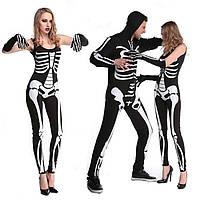 УниформадляигрHalloweenPartySkeleton Conjoined Clothing Мужчины и Женское Пары Череп Костюмы