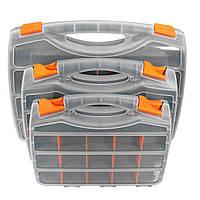 Пластиковый ассортимент Хранение Коробка Съемные ремни ремесла Набор Контейнер для деталей Органайзер 3 Размеры