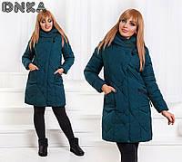 Женская зимняя курточка больших размеров