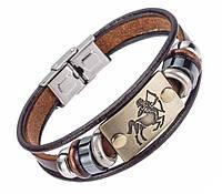 Кожаный браслет Primo Zodiac - Sagittarius (Стрелец)