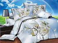 Комплект постельного белья семейный, полиэстер. Постільна білизна. (арт.8608)
