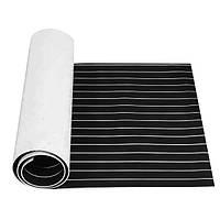 230x90x0.5cm EVA Пена черная с белыми линиями Лодка Напольное покрытие Faux Teak Decking Sheet Pad