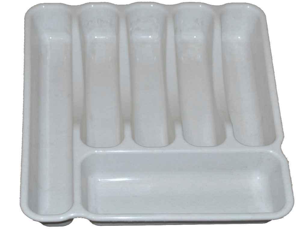 Лоток для столових приладів Люкс (60*380*325мм) білий ТМКОНСЕНСУС