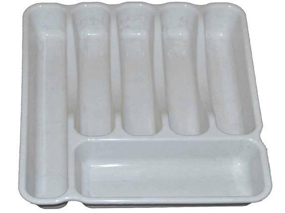 Лоток для столових приладів Люкс (60*380*325мм) білий ТМКОНСЕНСУС, фото 2
