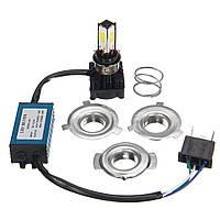 36W 3400LM COB H4 Hi/Lo LED мотоцикл Основная лампа Лампа H6 BA20D Мотор Свет