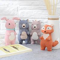 Metoo Forest Musketeers Животные Fox Новые аксессуары Плюшевые игрушки Кукла Кулон Праздничный подарок на день рождения