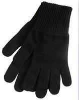 Перчатки зимние мужские трикотажные, черные, акрил 95%, полушерсть 5% Doloni 1/10