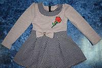 Трикотажное детское платье для садика