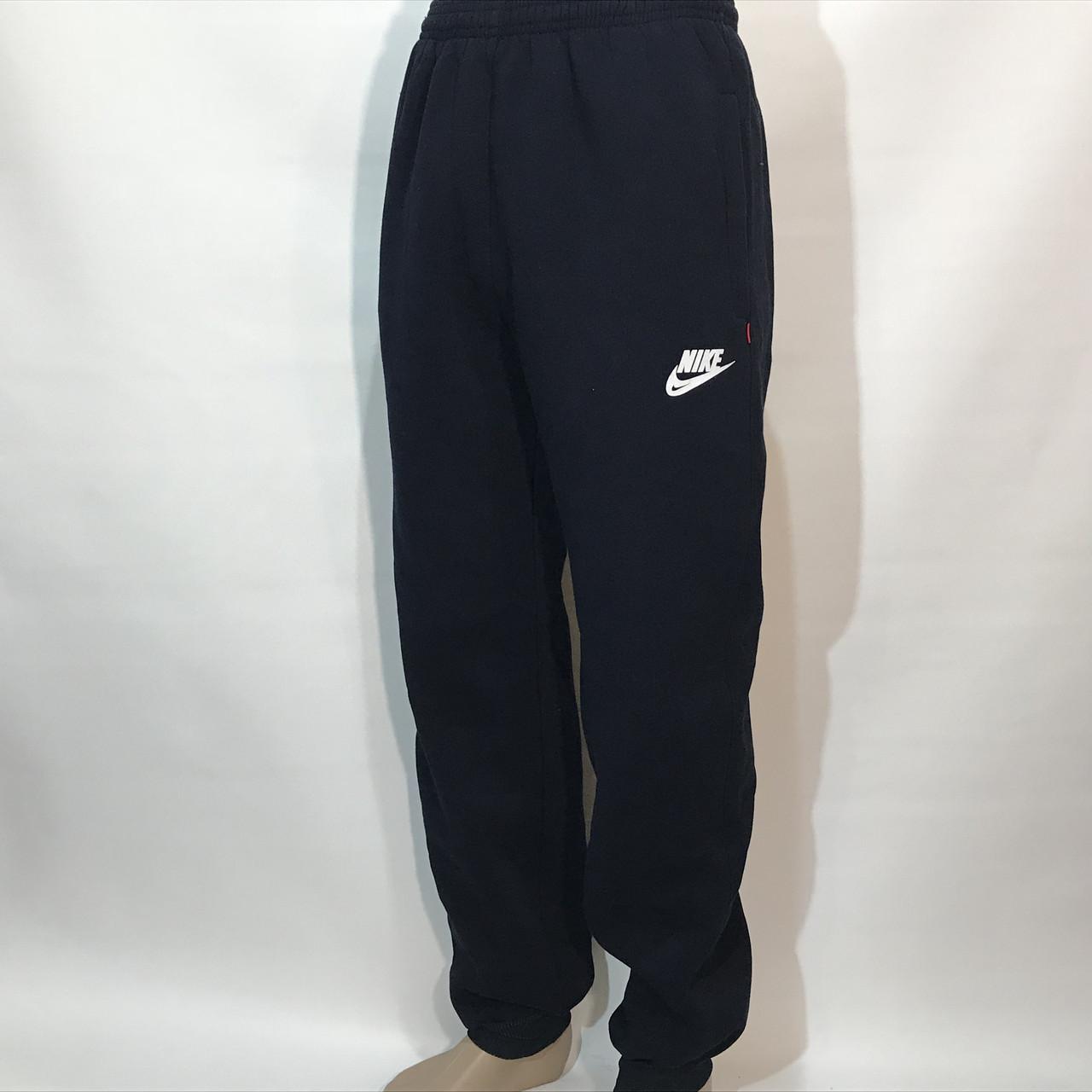 Спортивные штаны в стиле Nike теплые (размеры уточняйте) темно-синие