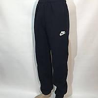 Спортивные штаны в стиле Nike теплые (размеры уточняйте) темно-синие, фото 1