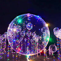 1PcsПрозрачныйВоздушныйшарНовогоднийсвет для украшения Воздушный шар 18 дюймов С 3-мя световой отделкой