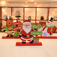 Рождество 2017 Украшение стола Дерево Рождество Снеговик Дед Мороз Украшение Декор Декор