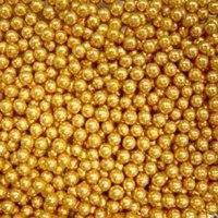 Драже Золотые бусины светлые 4 мм 100 гр