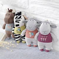 Metoo Лошадь Zebra Lamb Plush Кукла Рюкзак Ремень Аксессуары Key Chain Творческий подарок