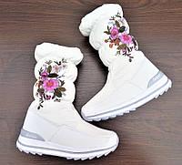 Детские зимние дутики Navigator в белом цвете