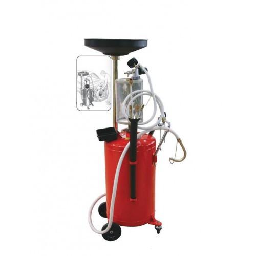 Установка для зливу і вакуумного відкачування масла з мірною колбою 90л TRG2090 GIKRAFT