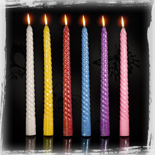 Так как же можно использовать цветные свечи?