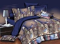 Комплект постельного белья семейный, полиэстер. Постільна білизна. (арт.8616)