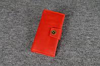Кожаный кошелек ручной работы Frico | Винтажный Коралл, фото 1