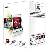 Процессор AMD (FM2) A4-5300, Box, 2x3,4 GHz (Turbo Boost 3,6 GHz), Radeon HD 7480D (723 MHz), L2 1Mb, Trinity, 32 nm, TDP 65W (AD5300OKHJBOX)