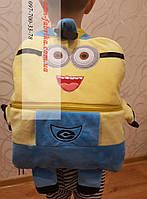 Теплый плед-рюкзак для мальчика миньон