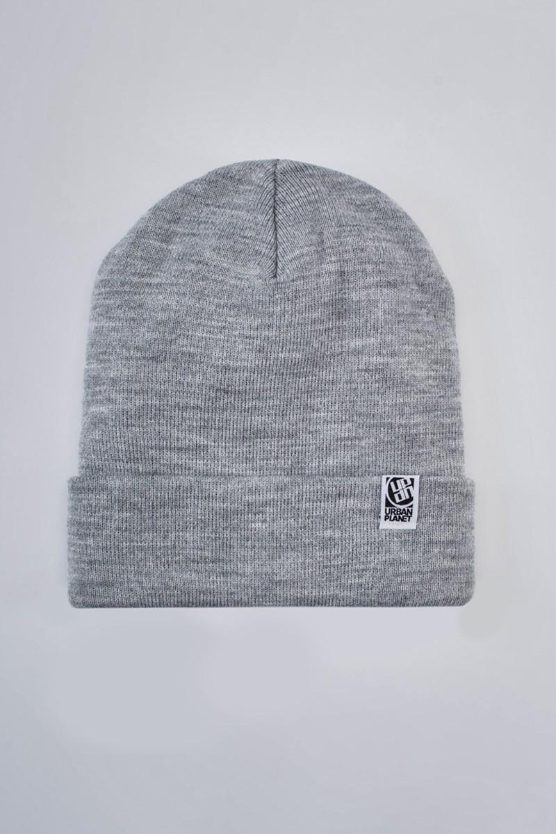 Шапка зимняя серая Urban Planet Heather (теплая шапка, шапка мужская,
