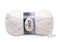 Турецкая пряжа Nako Sport Wool №208 Белый