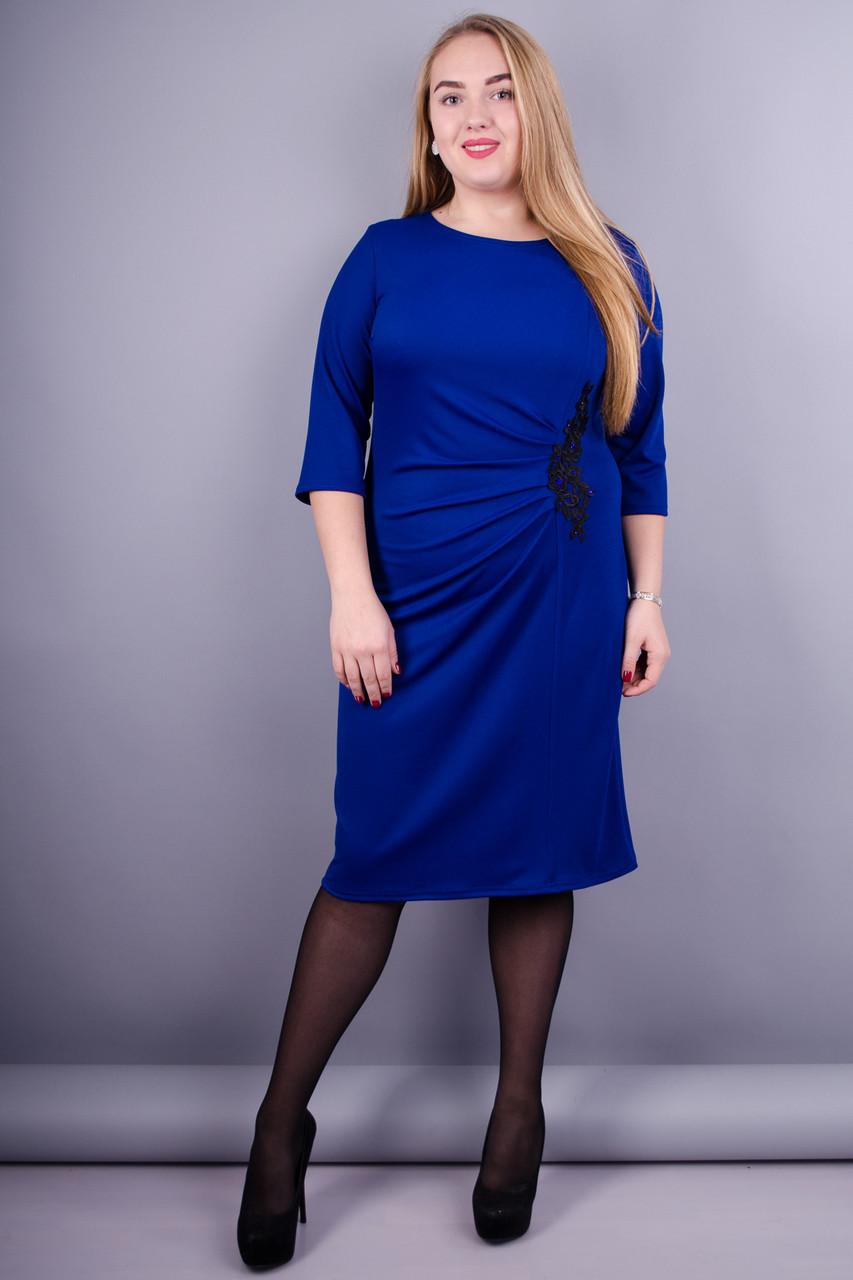 ccbb793cc85 Тейлор. Красивое женское платье супер батал. Электрик. - Интернет-магазин