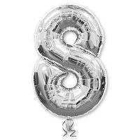 """Фольгована повітряна кулька цифра """"8"""""""