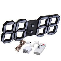 Большая современная цифровая светодиодная скелетная стена Часы 1TopShop, фото 3