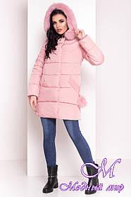 Женский розовый зимний пуховик (р. XS, S, M, L, XL) арт. Ари 4239 - 20584