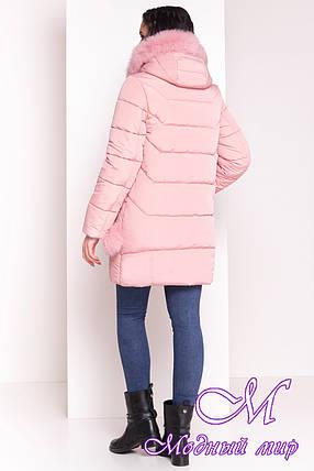 Женский розовый зимний пуховик (р. XS, S, M, L, XL) арт. Ари 4239 - 20584, фото 2