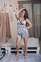 Велюровая женская стильная пижама