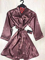 Одежда для дома,  атласный халат под пояс