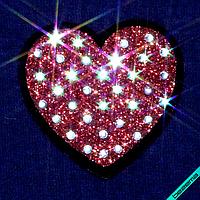 Друк на силіконі на текстильні вироби Серце (2мм-бел) [Свій розмір і матеріали в асортименті]