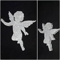 Маленький ангел с блестками - заготовка, пенопласт, толщ.2 см., выс.16 см., 35/30 (цена за 1 шт. + 5 гр.)