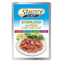 STUZZY Cat Sterilized Chicken ШТУЗИ СТЕРИЛАЙЗИД КУРИЦА в желе корм для кошек, пауч, 100г