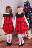 Детский новогодний костюм для девочки Божья коровка, детские новогодние костюмы оптом от производителя