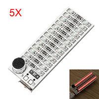 5Pcs 2x13 USB Mini Spectrum Красный LED Регулировка голоса Голосовой контроль Регулируемая