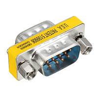 10шт RS232 DB9 9pin Мини-плееры для мужчин и мужчин Переходник последовательного кабеля Коннектор